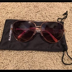 Liz Claiborne Sloan rose gold sunglasses